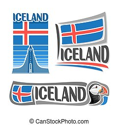 Vector logo for Iceland - Vector illustration of the logo...