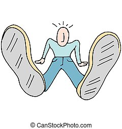Man with big feet - An image of a Man with big feet
