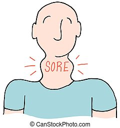 Man with a sore throat - An image of a Man with a sore...