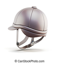 Helmet for riding isolated on white background 3d render...