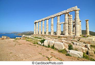 Poseidon,  Sounion, Templo, Grécia