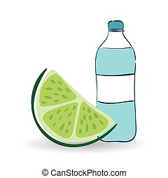 Healthy lifestyle design over white background, vector illustration