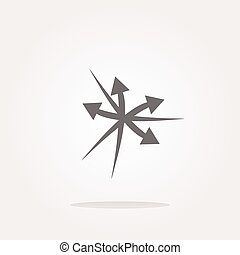 vector arrow set. web icon button isolated on white