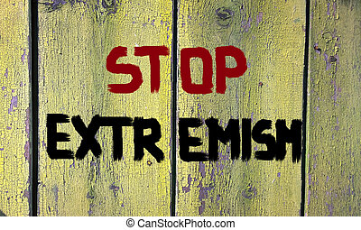 Stop Extremism Concept