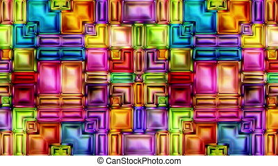 video seamless shimmer abstract shiny colorful background 3D...
