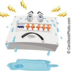 Switchboard Crying Tears Cartoon - Illustration of an...