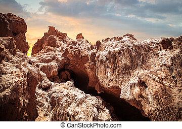 Rock formations of the Atacama desert