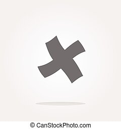 vector Glossy plus icon isolated on white background