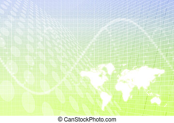 Global Business Abstract Background
