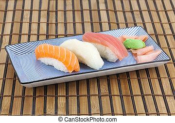 Sushi - Japanese sushi on a plate