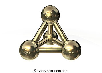 Molecule Structure Gold/Copper/Bronze II - simple...