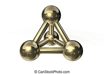 Molecule Structure Gold/Copper/Bronze II