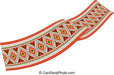 Colorful ribbon - decoration with colorful Slavic ornaments....