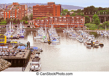 Boats and yachts by Granville island - Boats and yachts by...