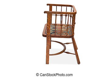 Side View of an Antique Dining Chair