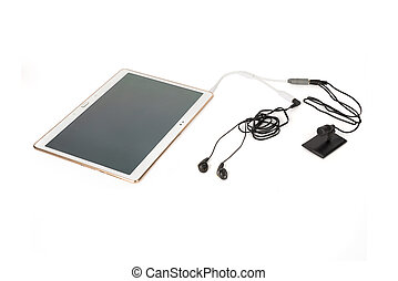 Wired Microphone and Listening System Connected to a Tablet...