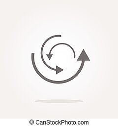vector abstract circles lines (arrows) on web glossy icon (button)