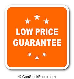 low price guarantee orange flat design modern web icon