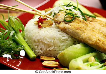 Asian Chicken And Rice - Delicious asian chicken and rice...