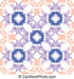 blue peach colored  translucent cross seamless pattern