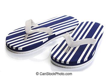 flip flops isolated on white - flip flops isolated on white...