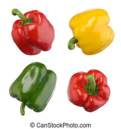 Sweet peppers isolated on white