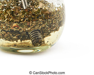 Glass mate calabash vessel isolated - Glass mate calabash...