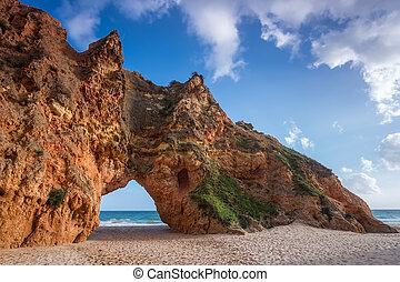Rock cliff arches on Prainha beach - Rock cliff arches on...
