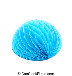 Honeycomb pom-pom ball decoration isolated - Blue honeycomb...