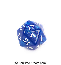 Roleplaying polyhedral dice isolated - Blue roleplaying...