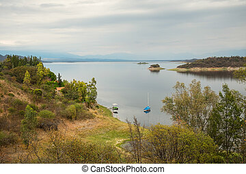 Cabra Corral reservoir - Placid waters of Cabra Corral...