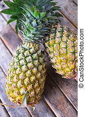 Ripe yellow pineapples for sale