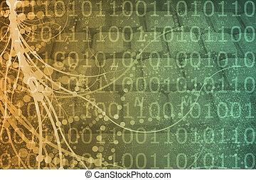 Biotech Futuristic Alien Background