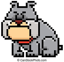 Dog - Vector illustration of cartoon Dog - Pixel design