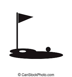 Golf course Icon Illustration design