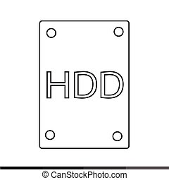 Hard Disk Icon Illustration design