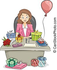 Office Girl Table Gifts