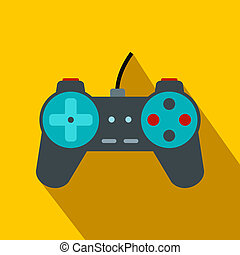 Video game controller flat icon