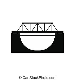 Rail bridge icon