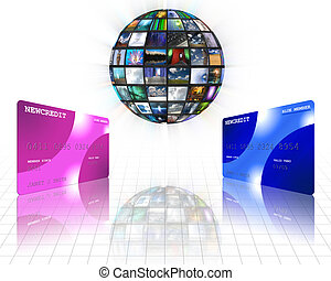 Media sphere and credit cards