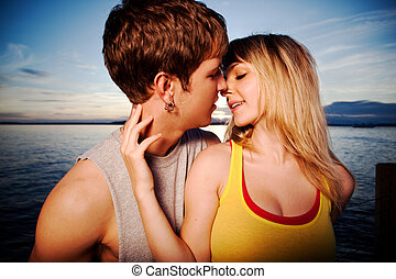 Young couple in love - A shot of a young caucasian couple...