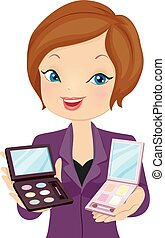 Girl Beauty Consultant Make Up Recommend