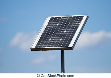 Solar of panels - Solar panels on the blue sky