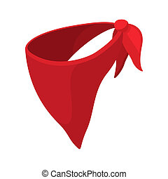 Cowboy neckerchief cartoon icon on a white background