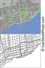 Toronto - Illustration city map of Toronto in vector