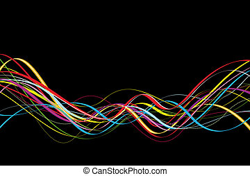 dynamic waves with black background