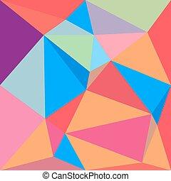 Vivid color polygonal background - Vivid colorful polygonal...