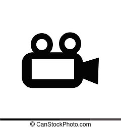 Video Camera Icon Illustration design