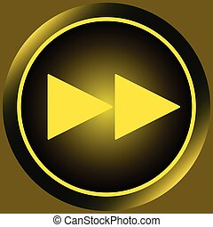 Icon yellow rewind symbol forward - Button icons with a...