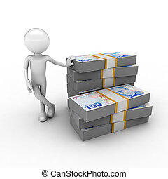 Stack of lira bills - visual describing the economy using...